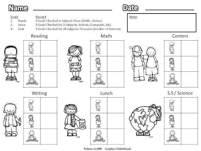 Behavior Chart | Aspergers & Autism | Pinterest | Behavior Contract ...