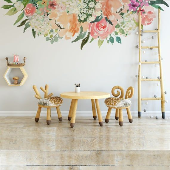 Sample Peaches And Cream Collection 01 Floral Wall Mural Pink