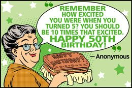 Funny 50th birthday quote