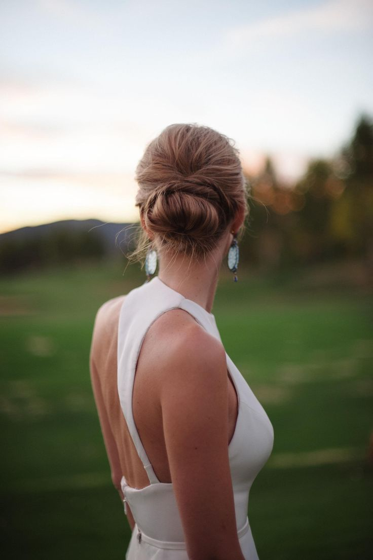 Low Chignon Wedding
