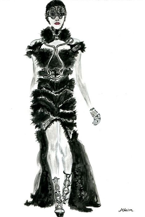 17 best images about fashion illustration alexander for Mac alexander mcqueen