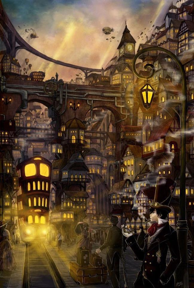 Steampunk concept art - artist unknown