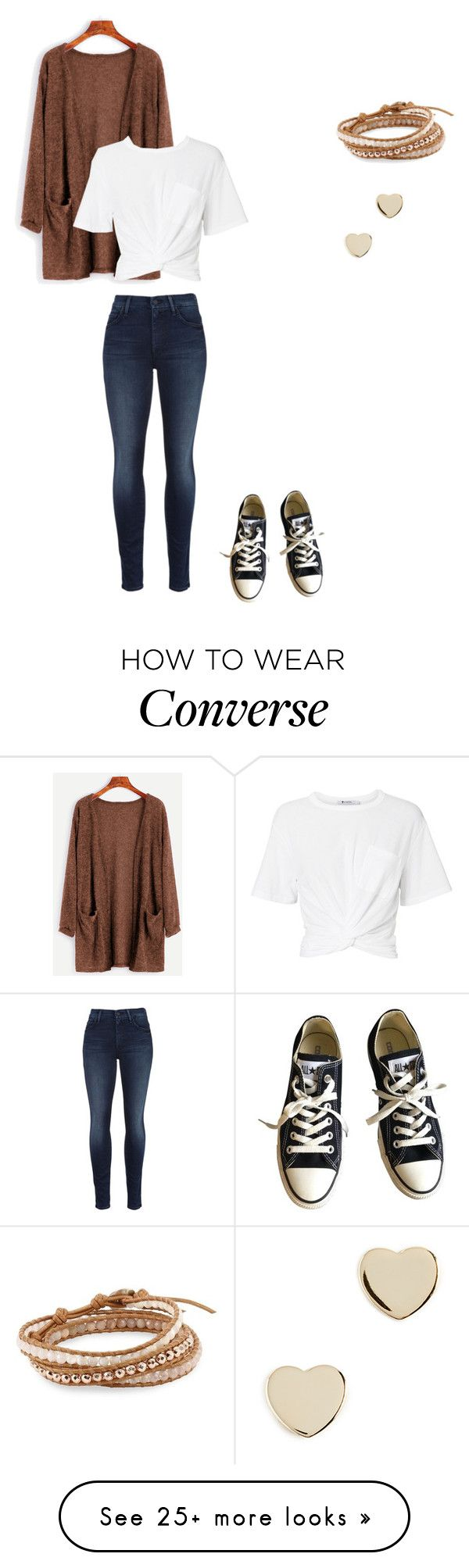 """""""Untitled #412"""" by tangeled10 on Polyvore featuring T By Alexander Wang, Mother, Converse, Chan Luu and Shashi"""