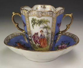 19TH CENTURY HELENA WOLFSOHN CUP AND SAUCER