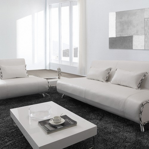 Essence Leatherette Convertible Sofa Bed And Chair Set In White By Hokku  Designs | $989.00