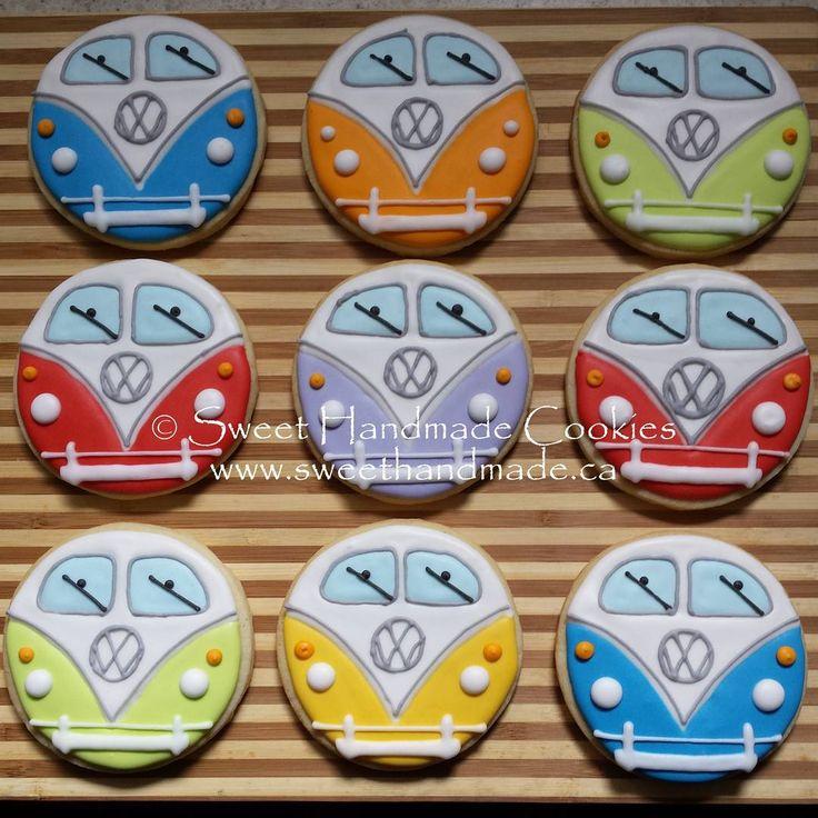 VW bus cookies for my brother. #vwbus #vwbuscookies #sweethandmadecookies #customcookies #decoratedcookies #designercookies #cookies #vwbusporn