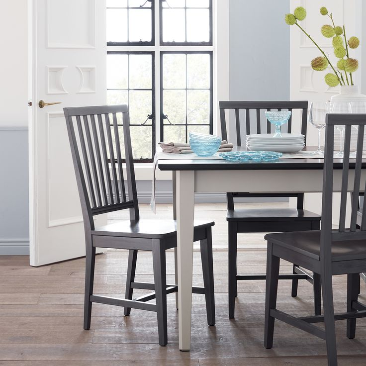 Village Grigio Wood Dining Chair And Natural Cushion