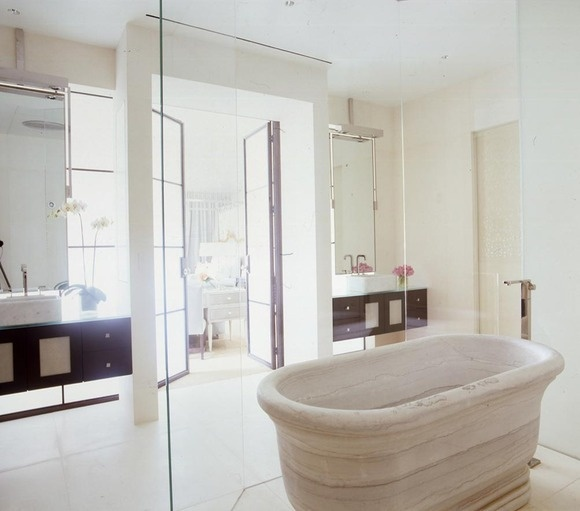 Dreamy bathroom too  by vicente wolf. 10 Best images about NYC kitchens BATHROOMS on Pinterest