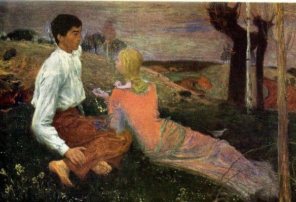 Jan Preisler - from larger cycle of The Black Lake (1900) #art #painting #czechia #symbolism
