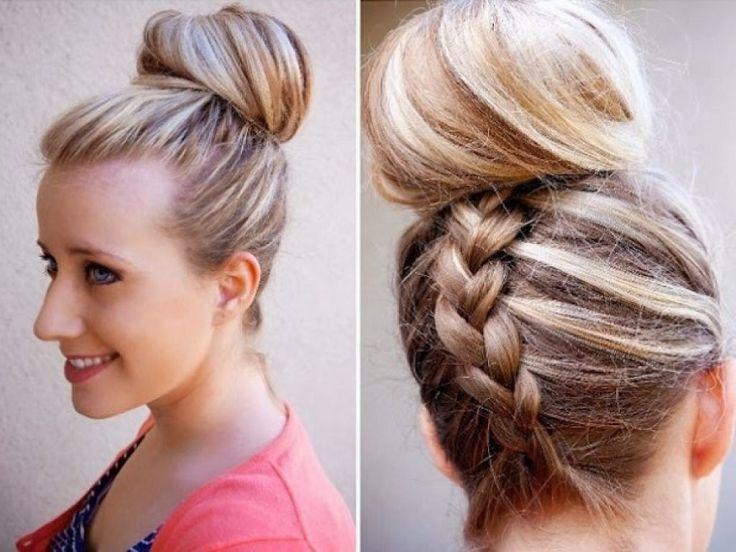 acconciature per i capelli lunghi con uno chignon