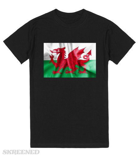 Wales Flag | Welsh flag texture crumpled up #Skreened