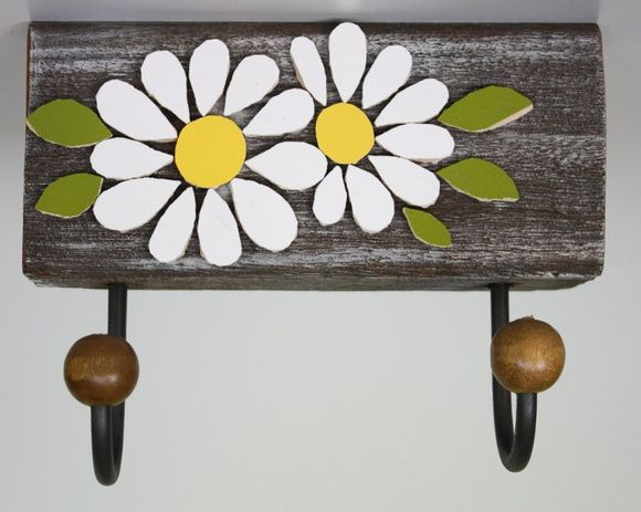 Cabideiro em mosaico Antigo flor