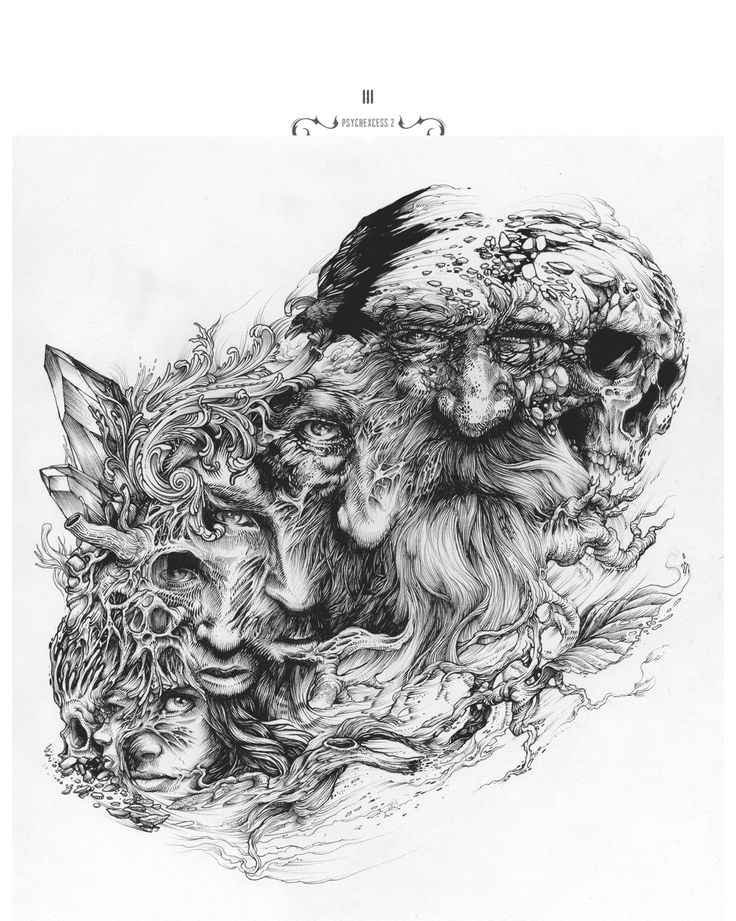 Selection of ink artwork  realised during the last few monthes.