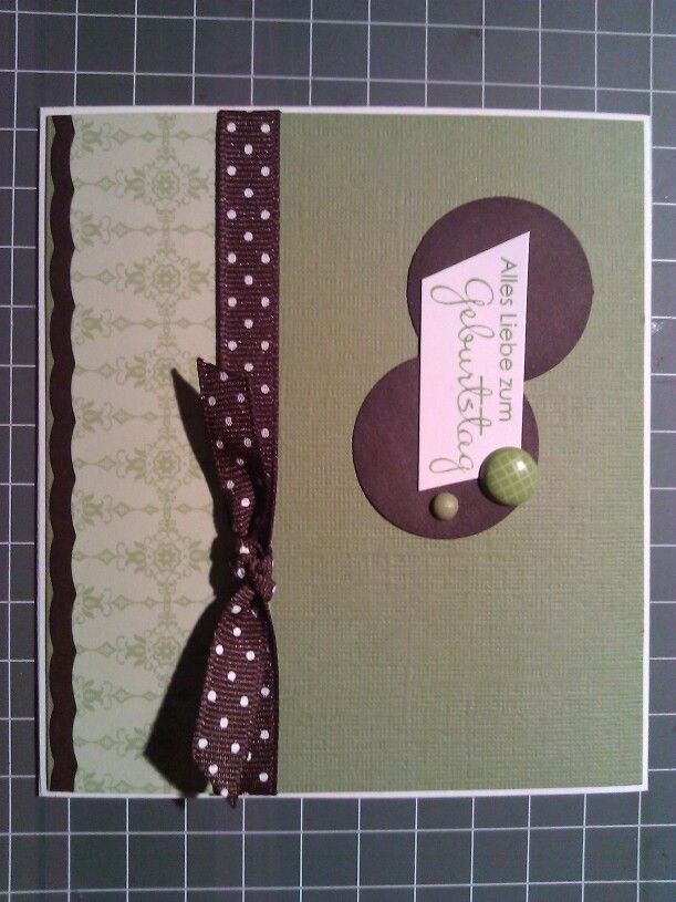 Geburtstagskarte für Mann- grün braun