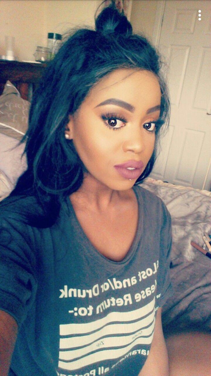 @ANadineHxox #makeup #allblackeeerrthing
