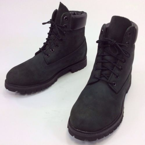 Men's Timberland Dark Grey Leather Lace Up Ankle Boots Sz 9