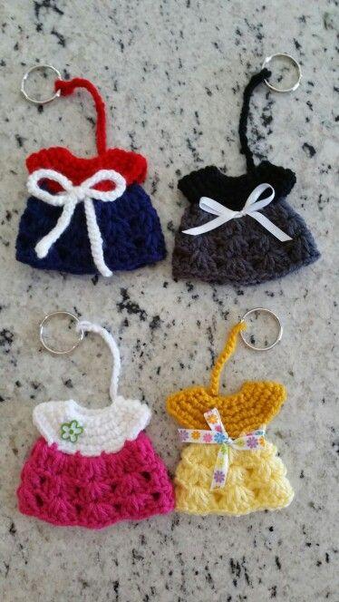 Crochet lil dress key chains
