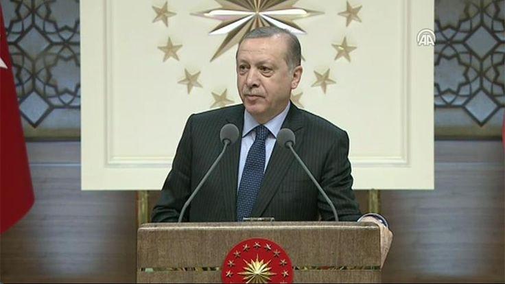 Cumhurbaşkanı Recep Tayyip Erdoğan, Cumhurbaşkanlığı Külliyesi'nde turizm sektör temsilcilerine hitap etti.
