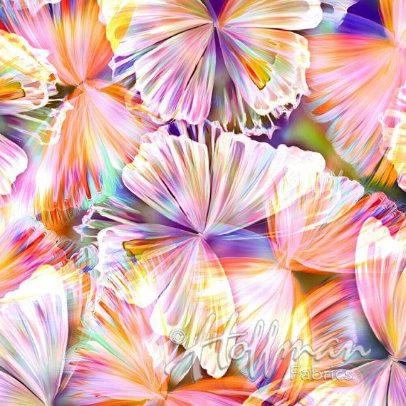 Hoffman Fluttering By Large Erfly Punch Spectrum Digital Print Fabric The Yard Q4425 474