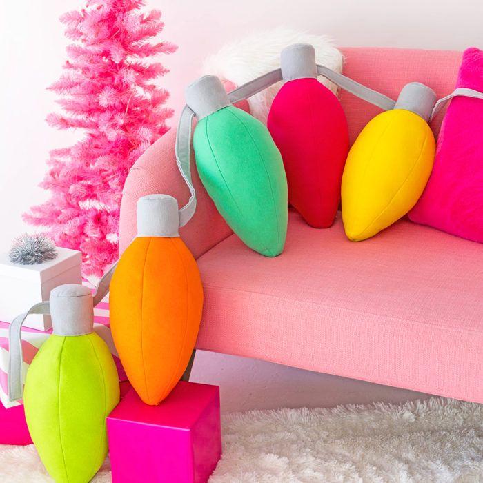 » DIY Holiday Light Pillows
