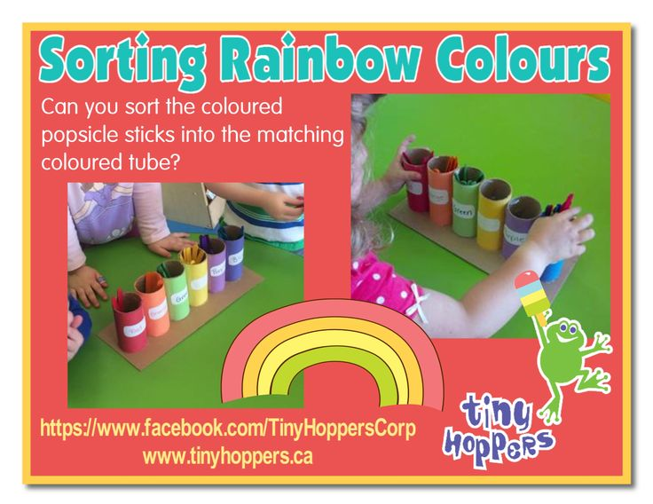 Sorting Rainbow Colours - Tiny Hoppers