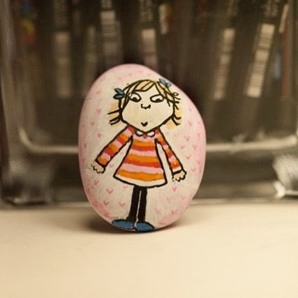 Lola from Charlie and Lola, pebble art