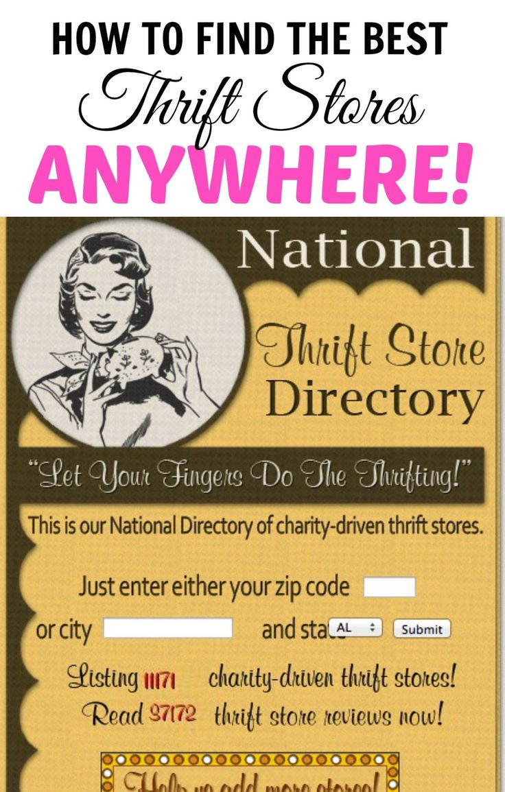 10 Thrift Store Shopping Secrets You Should Know (like how to find the best thrift stores in your area using the National Thrift Store Directory)! This is SO great!