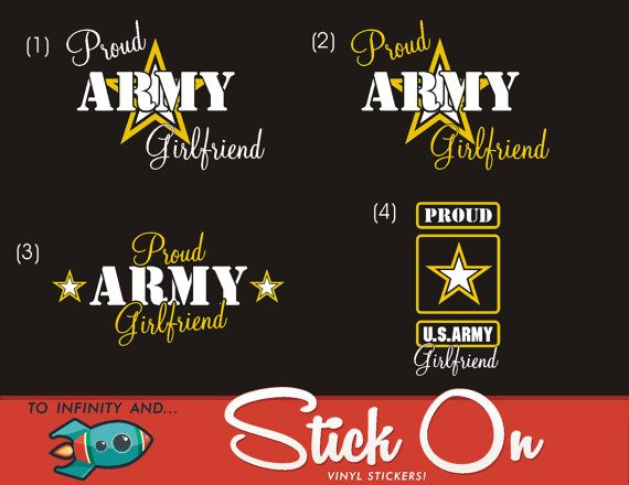 Proud Army Girlfriend Decal by ToInfinityAndStickOn on Etsy, $5.00