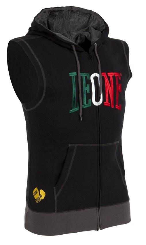 Leone 1947 ® Italy Store LEO-025 - Felpa smanicata zip con cappuccio - Felpe - Abbigliamento Official Website