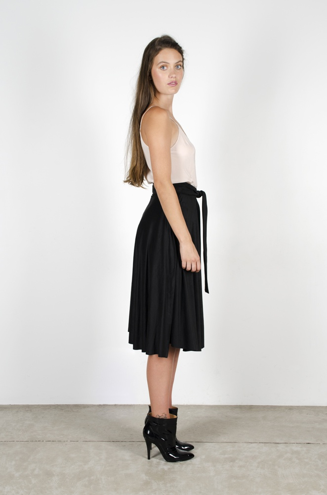 Chimerial Camisole - Blush  Neil Young Skirt - Black Chamois