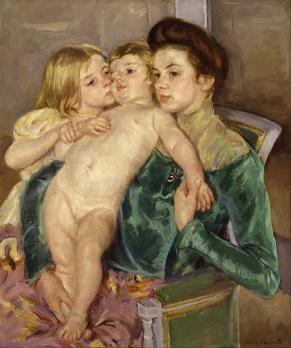 Mary Cassatt. La caresse (1902)