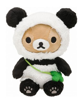 Panda Rilakkuma Shop Plushies