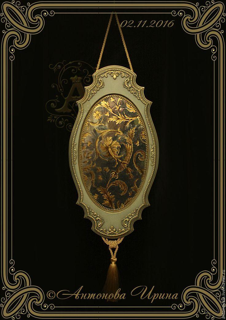"""Купить Зеркало-панно-""""Возрождение"""" - бирюзовый, зеркало, зеркало настенное, зеркало ручной работы"""