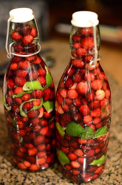 Cranberry Lime Vodka. Great gift for a holiday party host.
