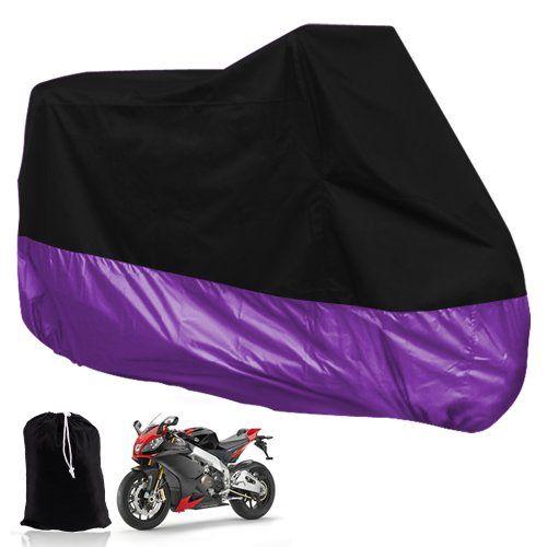TOYL HOUSSE BACHE MOTO Couvre-Moto velo VTT scooter Taille XL 245cm violet noir protection moto couverture