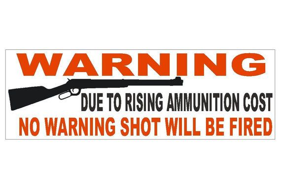 Anti Gun Control Warning Political Bumper Sticker Made In The U. S. A. . D323 --FREE US SHIPPING--