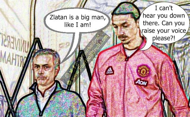 José Mourinho Says Zlatan Ibrahimović is a Big Man Like He is #Mourinho #Ibrahimovic #ManUnited #Wenger #Arsenal #Liverpool #Chelsea #EPL #Messi #Barcelona #Ronaldo #Neymar #FCBarcelona #Jokes #Comic #Laughter #Laugh #Football #FootballDroll #Funny #CR7 #HalaMadrid #ForçaBarça #LaLiga #RealMadrid