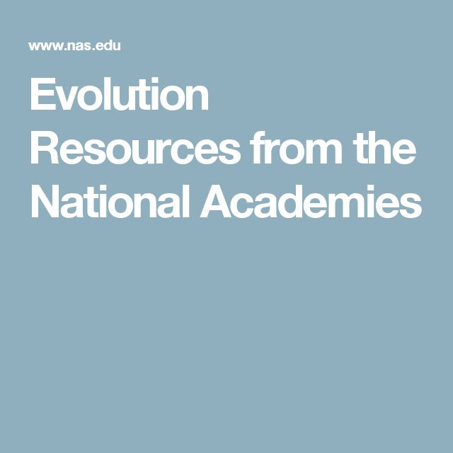 Evolution Resources from the National Academies