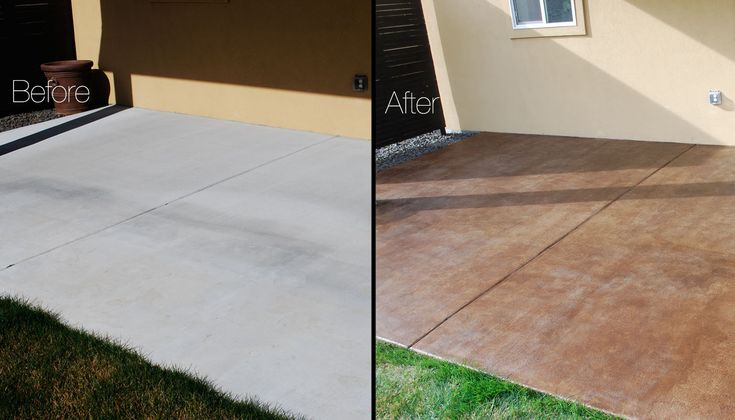 DIY Project: How to Stain a Concrete Patio
