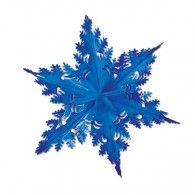 Winter Snowflake Decoration Blue Metallic $11.95 BE20505-B