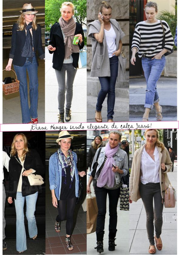 Diane Kruger - casual style.