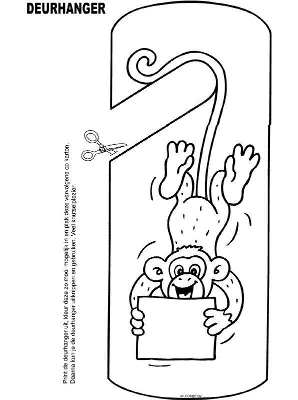 kleurplaten-aap
