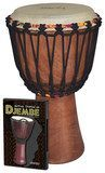 Tycoon Percussion - Djembe Instrument Starter Kit - Brown/Tan