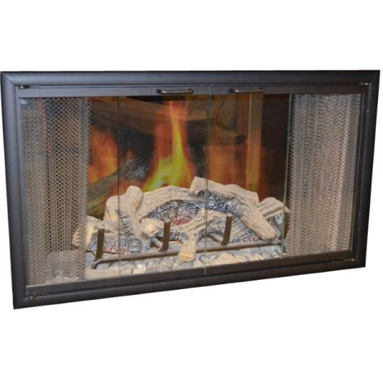 Superior Bi Fold Glass Fireplace Door Easy To Install Stop