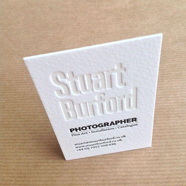 Unique Letterpress Business Card - Stuart Burford down to - letterpress business card