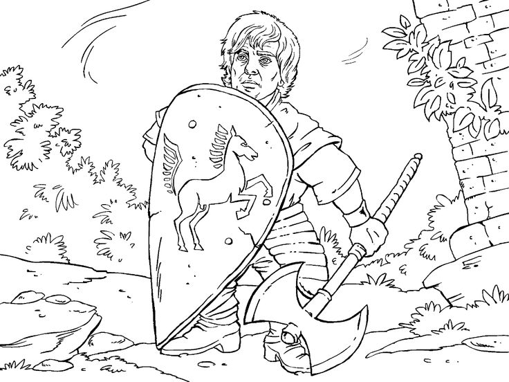 game of thrones colouring in page tyrion - Colouring In Game