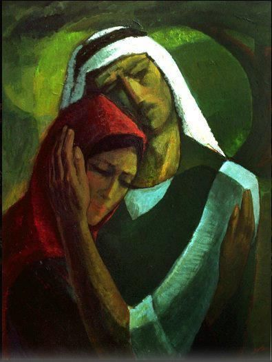 """Until we meet"" by the Palestinian artist Ismail Shammout"
