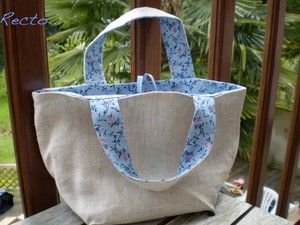 Reversible tote (French tut)