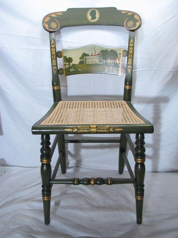 $200........Vintage 1974 Hitchcock George Washington President Mount Vernon LE Caned Chair | #1873315077