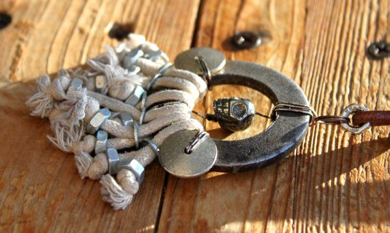 Mad Max Inspired Necklace Pyrite Skull Post by WastedCouture